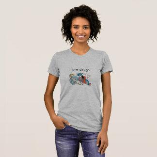 Bluse graue Farbe für Liebhaber der Gestaltung T-Shirt