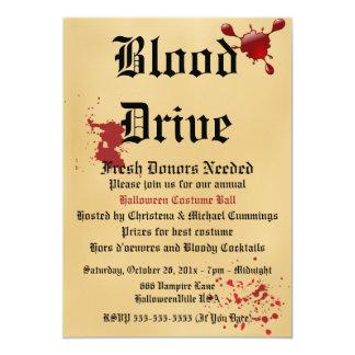 Blut-Antriebvampire-Halloween-Party-Einladung 12,7 X 17,8 Cm Einladungskarte