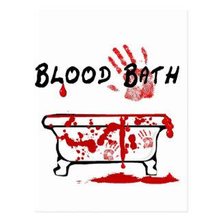Blut-Bad Postkarte