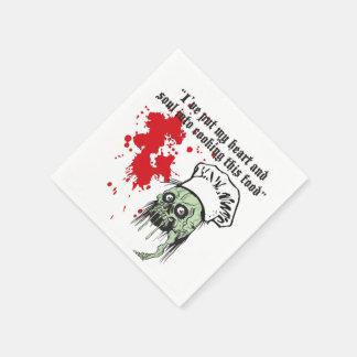 Blut beflecktes Zombie-Koch Halloween-NachtParty Serviette