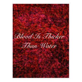 Blut ist stärker als Wasser Postkarte