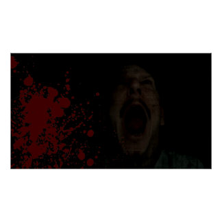 Blut-Schrei-Plakat Poster