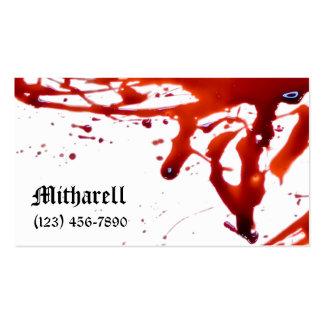 Blut Splattered Visitenkarte