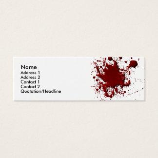 Blut-Spritzen-Karte Mini Visitenkarte
