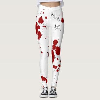 Blut-Spritzer-Gamaschen Leggings
