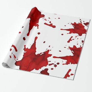 Blut-Spritzer Geschenkpapier