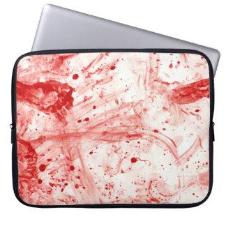 Blut-Spritzer-Verwirrung Laptop Schutzhülle
