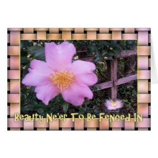 Blüte außerhalb des Kastens Karte