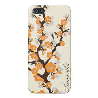 Blüte der Kirsche4 (orange) iPhone 5 Schutzhüllen