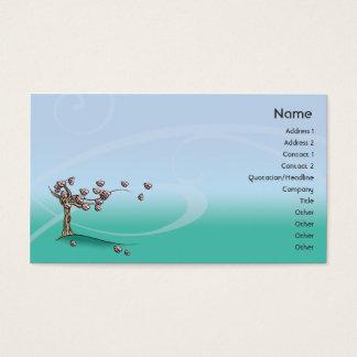 Blüte - Geschäft Visitenkarte