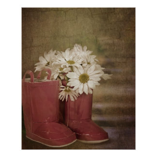Blüte im Stiefel Poster