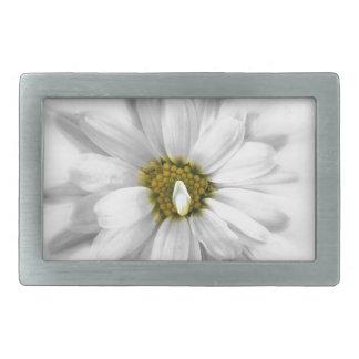 Blüte in den Schatten von Weiß Rechteckige Gürtelschnalle