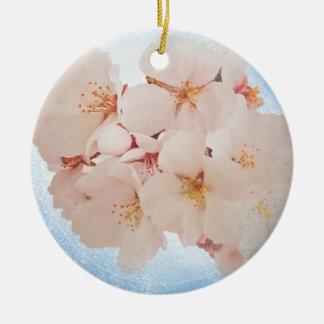 Blüte in Pantone Lapis Blau Keramik Ornament