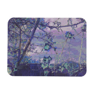 Blüten-abstraktes Veilchen Magnet