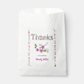 Blüten-Babyparty danken Ihnen Geschenktütchen