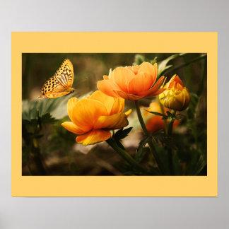 Blüten-Blumen Plakat