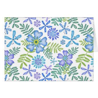 Blüten des Blaus Karte