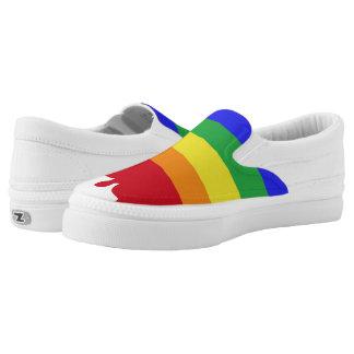 Bluten-Regenbogen Slip-On Sneaker