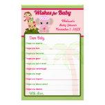Blüten-Schwanz-Baby-Duschen-Wünsche für Baby-Rat Flyerdruck