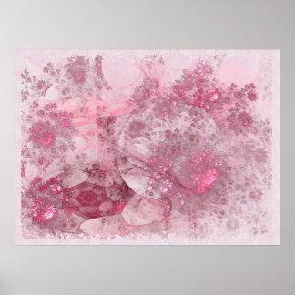 Blüten-Tagesabstrakter Dekor Poster