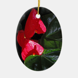 Blütenschweif Keramik Ornament