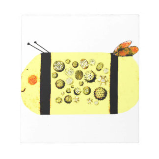Blütenstaub-Biene Notizblock