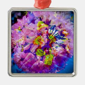 Blütenträume Clown Quadratisches Silberfarbenes Ornament