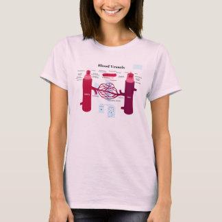 Blutgefäß-Arterien-Kapillarader-Diagramm T-Shirt
