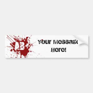 Blutgruppe-Spenden-Vampirs-Zombie AB positiver Auto Sticker