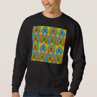 Bluthund-HundeCartoon Pop-Kunst Sweatshirt