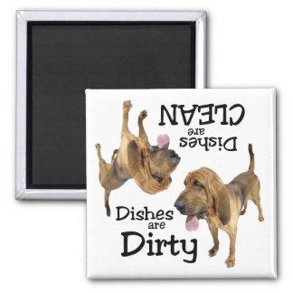 Bluthund-Liebhaber-Spülmaschinen-Magnet Quadratischer Magnet