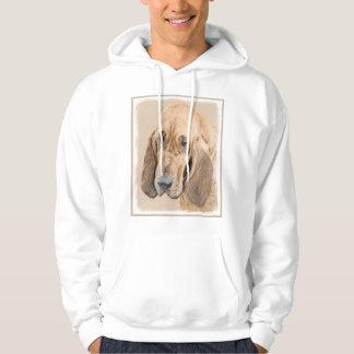 Bluthund-Malerei - niedliche ursprüngliche Hoodie