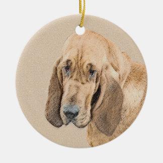 Bluthund-Malerei - niedliche ursprüngliche Keramik Ornament
