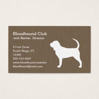 Bluthund-Silhouette Visitenkarte