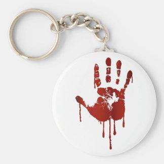 Blutige Halloween-Hand Schlüsselanhänger