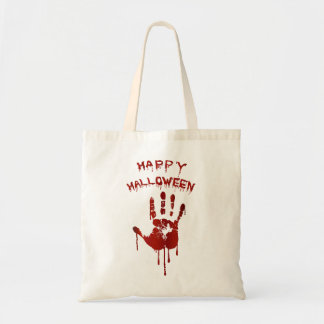 Blutige Halloween-Hand Tragetasche