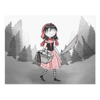 Blutige Lil Rot-Postkarte
