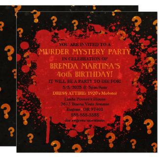 Blutige Mord-Geheimnis-Party Einladung