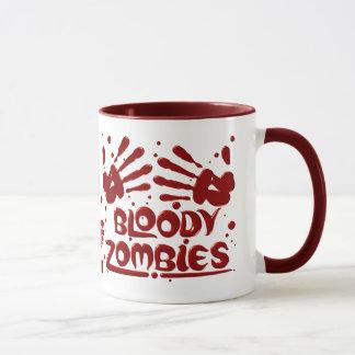 Blutige Zombie-Tassen Tasse