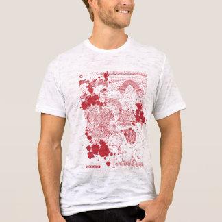 Blutiger antiker asiatischer Holzschnitt T-Shirt