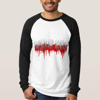 Blutiger Friedhofs-Poltern-Baseball T T-Shirt