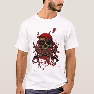 Blutiger Piraten-Schädel-T - Shirt