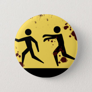 Blutiger sich schnell bewegender Zombie-Knopf Runder Button 5,1 Cm