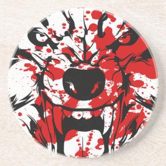 Blutiger Wolf Sandstein Untersetzer