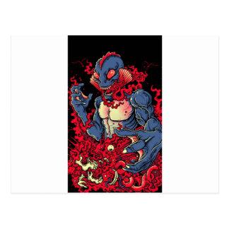 Blutiges Geschöpf Postkarte