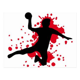 blutiges Handball dodgeball Postkarten