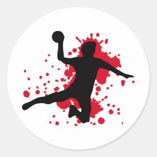 blutiges Handball dodgeball Runder Aufkleber