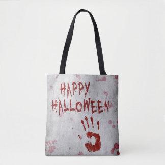 Blutiges Handprint Halloween ganz vorbei - drucken Tasche