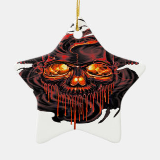 Blutiges rotes Skelette png Keramik Ornament