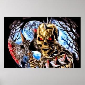 Blutiges Skeleton Plakat
